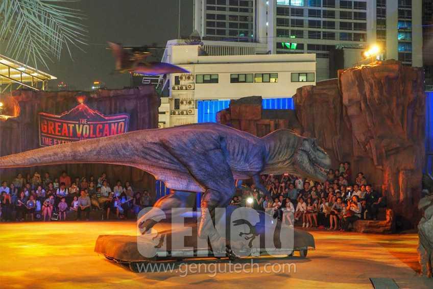 Newest Customized Animatronic Walking Dinosaurs