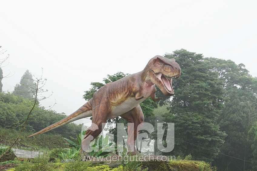 Dinosaurs Run into Qijiang National Geological Park
