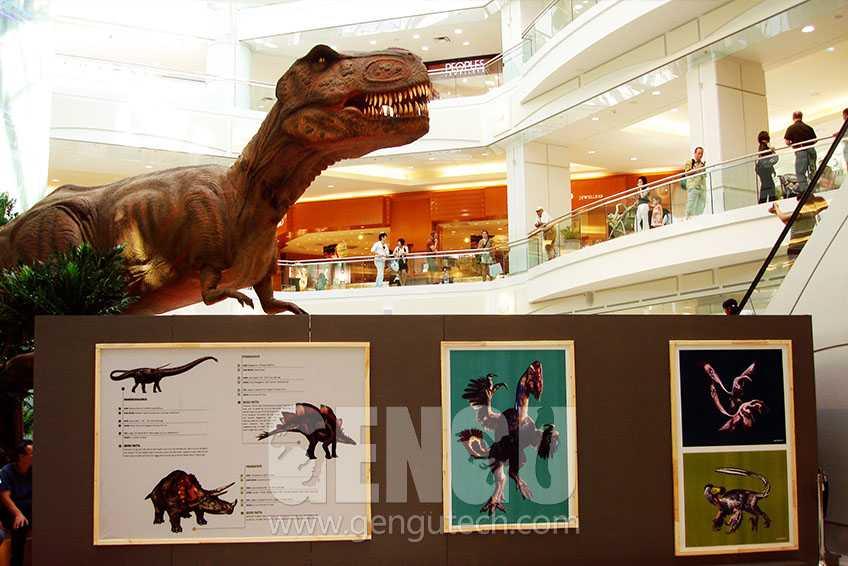 Shopping Mall Animatronic Dinosaur Decoration