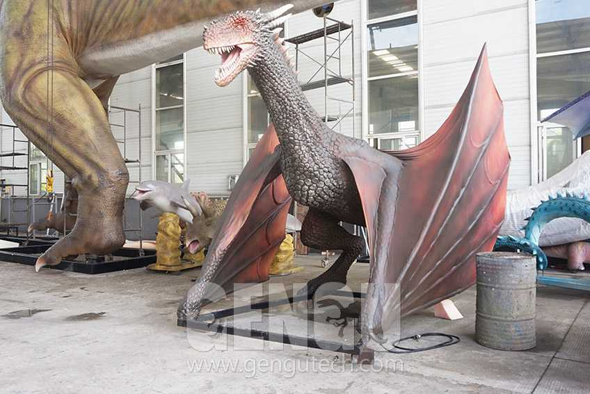 Lifelike Animatronic Dragon