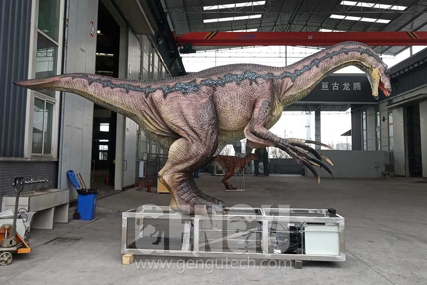 Realistic Animatronic Dinosaurs in Stock