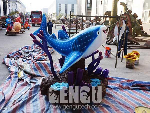 Fiberglass Cartoon Shark(FP-297)
