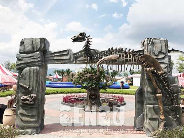 Fiberglass Dinosaur Door(FP-970)