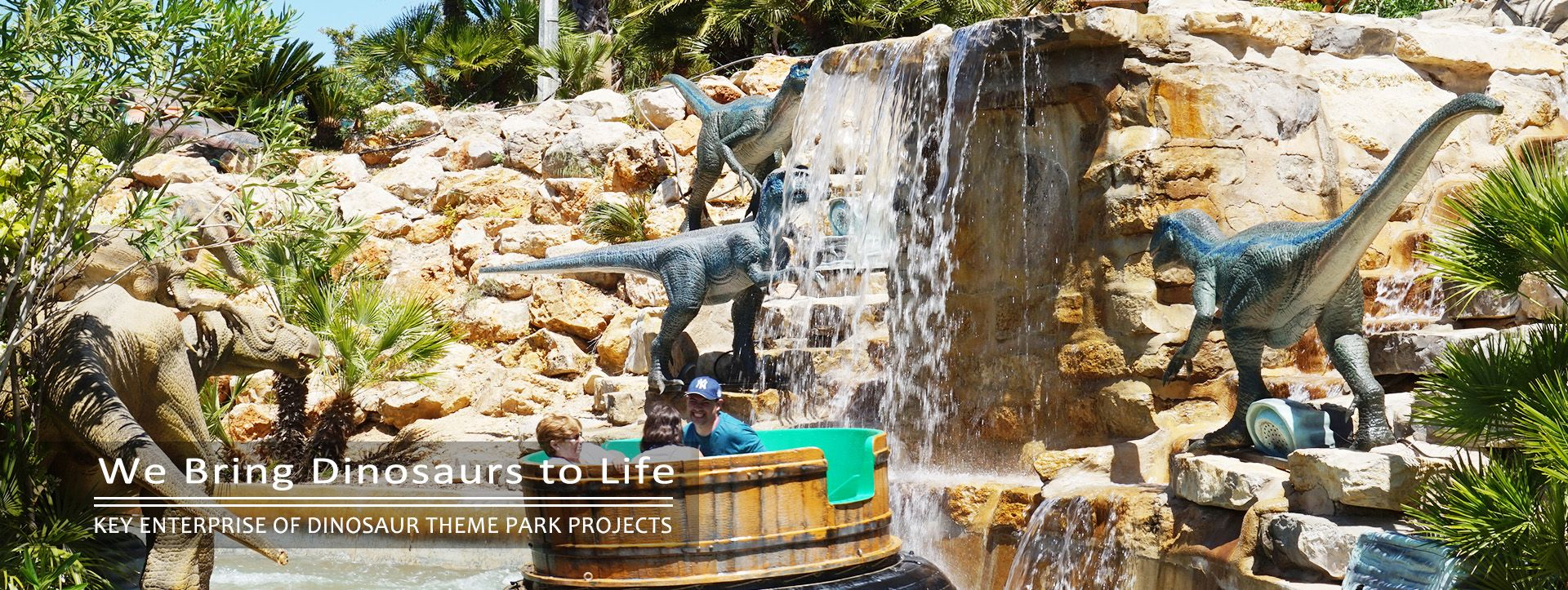 outdoor life size animatronic dinosaur
